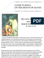 PRAYER TO JESUS, AGONISING ON THE MOUNT OF OLIVES