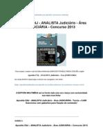CNJ - ANALISTA Judiciário - Área JUDICIÁRIA