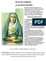 The SEVEN SORROWS of our BLESSED MOTHER
