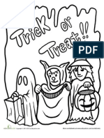 Trick or Treat Coloring Page