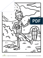 Zombie Coloring Page 2