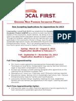 Apprenticeship Description 2013