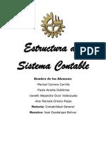 Estructura Del Sistema Contable Trabajo a Antregar