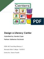 EDRL442 Fall2012 KatherinePolchinskiAndKendraCope LiteracyCenter(2)