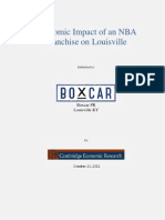 Cambridge Economic Research's Study on the Economic Impact of an NBA Franchise on Louisville.