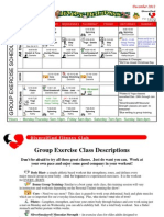 December 2012 Group Fitness Schedule