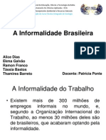 A Informalidade Brasileira