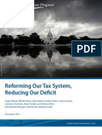 Reforming Our Tax System,  Reducing Our Deficit