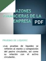 Razones Financieras de La Empresa