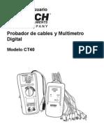 Probador de cables y Multímetro Digital Modelo CT40