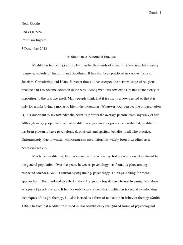 Meditative essay sample bibliography format thesis