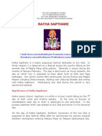 Ratha Sapthami - The Sun centric festival