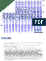 Amplificación Multiple de secuencias dianas alelo - especificas por supresio