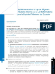 Ley Reformatoria a la Ley de Régimen Tributario Interno y a la Ley Reformatoria para la Equidad Tributaria del Ecuador - copia