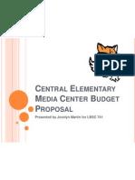 central elementary media center budget proposal presentation