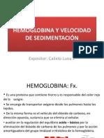 HEMOGLOBINA Y VELOCIDAD DE SEDIMENTACIÓN
