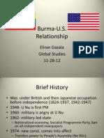 Burma U.S Relationship