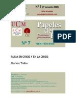 16456209 Taibo Carlos Rusia en Crisis y en La Crisis 2003
