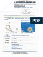 NDRRMC Update Sit Rep 05 Preparedness Measures for Typhoon Pablo