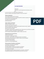 Organization Development Audit Checklist