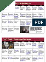 Advent 2012 Calendar