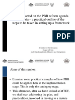 Getting started on the PBB reform agenda  in Indonesia – a practical outline of the steps to be taken in setting up a framework