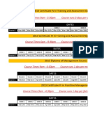 2013 Timetable All Courses