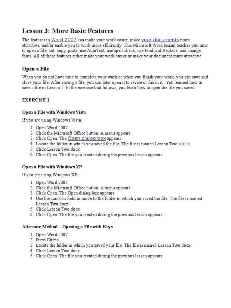 lesson 3 typefaces microsoft word
