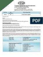 Surat Jadual Penerbangan Awal (Email) MR43