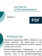 INTRODUCTION TO PRODUCTION MANAGEMENT