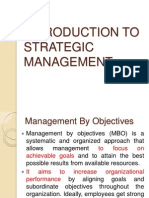 INTRODUCTION TO STRATEGIC MANAGEMENT
