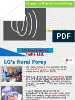 Lg Experience in Rural Market