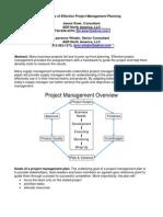 Elements of Effective Project Management Planning KiserALT