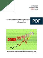Finanzplanung 2008 DOSB