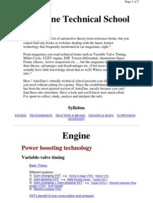 Autozine Technical Scool | Turbocharger | V6 Engine