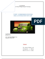 ENBEDDED SYSTEMS - AUTOMATION OF CAR