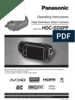 Panasonic HDC-SD5 User Guide