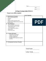 Grade Research Paper Scoring Guide