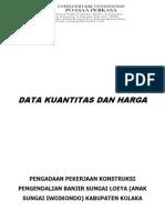 Data Kuantitas Dan Harga (Sungai Loeya)