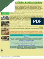 A Catalogue of Indian Atrocities in Kashmir