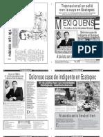 Versión impresa del periódico El mexiquense 4 de diciembre 2012