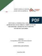 Efecto de la Temperatura y del pH en la adsorción del fenol sobre el carbón activado F400 sometido a diferentes Tratarmientos. Estudio del equilibrio (Trabajo Fin de Carrera)
