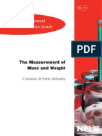 Measurement of Mass and Weight by NPL