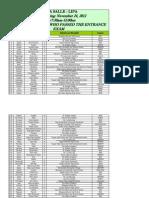 DLSL 2012 Exam Result