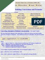 Air dispersion formula