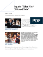 Comparing the 'Idiot Heir' and 'Wicked Heir'