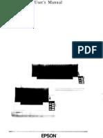 Manual Impresora FX 1050