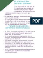 Modalidad de Adquisicion de Software