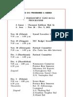 Synod 2012 Programme & Agenda