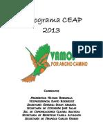 Programa Ceap 2013 Vamos Por Ancho Camino